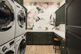 Rose Cabinets Pink And Black Rose Wallpaper With Black Laundry Cabinets