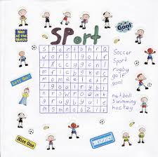 printable sports word search for kids activity shelter