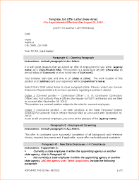 6 job offer letter template outline templates