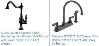 oil rubbed kitchen faucets rubbed bronze kitchen faucet