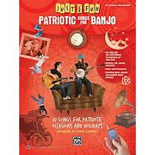 alfred just for patriotic songs for banjo easy tab book