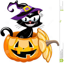 halloween pumpkin cartoons halloween black cat inside pumpkin stock vector image 60977803