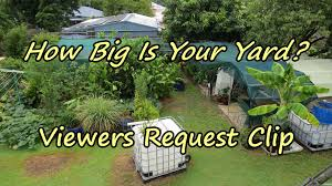 how big is your yard picture with breathtaking backyard farming
