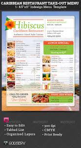 caribbean restaurant take out menu template by godserv graphicriver