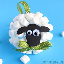marshmallow sheep ornament crafty morning