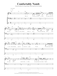 Pink Floyd Comfortably Numb Lyrics And Chords Comfortably Numb Sheet Music Direct