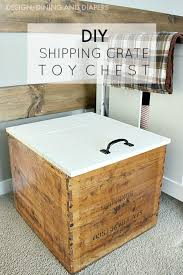 diy toy chest with lid from vintage shipping crate taryn whiteaker