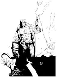 hellboy coloring pages black u0026 whites by joshua covey at coroflot com