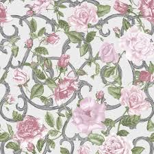 muriva rose trellis floral wallpaper white pink 135504