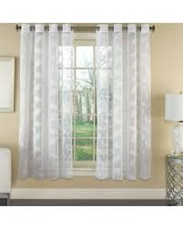 great deals on avery semi sheer faux linen grommet window curtain