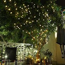 gdealer solar outdoor string lights 31ft 50 led