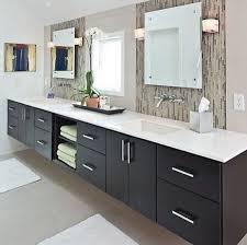 bathroom vanity floating modern wall mounted black wooden sink