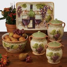 wine kitchen canisters tuscan kitchen canister sets awesome tuscan themed kitchen