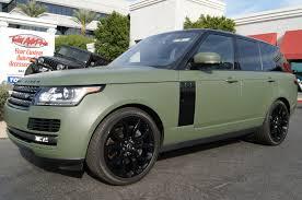 wrapped range rover sport 2016 range rover matte military green vinyl wrap total auto pros