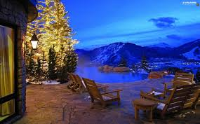 lake view terrace mountains christmas tree for desktop
