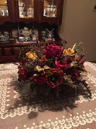 Dining Room Table Floral Centerpieces by Floral Arrangementsale Large Tuscan Silk Winter Arrangement