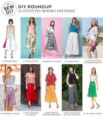design pattern of dress diy roundup 10 culottes sewing patterns sew diy