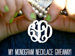 My Monogram Necklace Chels U0026 The City Breaking Fashion Rules U0026 A Giveaway