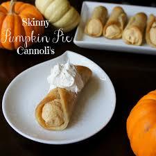 skinny pumpkin pie cannolis i wash you dry