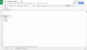 Tax Write Off Spreadsheet 10 Easy Steps To Creating A Budget Spreadsheet