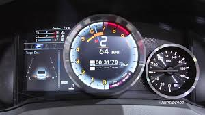 lexus rcf with turbo 2015 lexus rc f gauges in action u002714 naias detroit youtube
