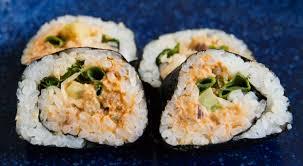 sriracha mayo sushi sprouted 3 bean vegetarian sushi spicy tuna flavor kat rose