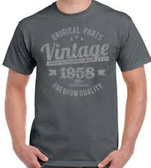 60 year birthday t shirts vintage year 1958 premium quality mens 60th birthday t shirt for