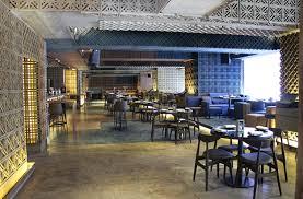 cuisine interiors charm farzi cafe s molecular cuisine thrives in an all concrete