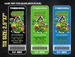custom ninja turtle invitations stephenanuno com