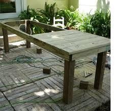 Build A Wooden Garden Table by Best 25 Outdoor Farm Table Ideas On Pinterest Outdoor Table