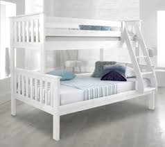 Happy Beds Atlantis Solid Wood Triple Sleeper Bunk Bed Ft  Ft - Triple bunk beds with mattress