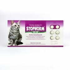 Obat Cacing Kucing Di Petshop obat cacing kucing stopworm for cat 6 tab