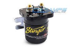 stinger sgp32 car audio 200 amp dual battery high current relay