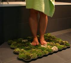 Green Bathroom Rugs Green Bathroom Rug A Mat Made From Real Moss