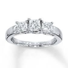 princess cut 3 engagement rings 3 ring 1 ct tw princess cut 14k white gold