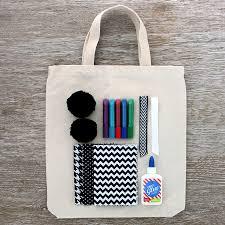 seedling diy black u0026 white tote bag seedling craft activity kits