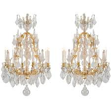 Bacarat Chandelier French 19th Century Louis Xv Style Baccarat Attributed Crystal