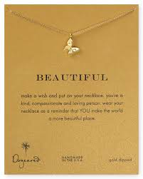 Meaningful Butterfly - dogeared 14k gold dipped butterfly necklace 16 bloomingdales