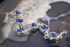 blue crystal bracelet swarovski images Classic elegant sparkling sapphire blue swarovski crystal round jpg