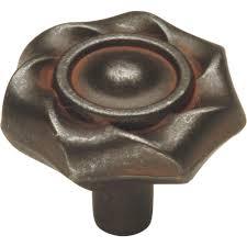 hickory hardware craftsman 1 1 4 in black iron cabinet knob p2170