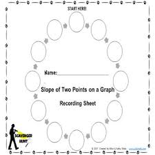 the slope of two points on a graph scavenger hunt free