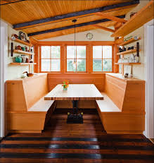 Wooden Banquette Seating Kitchen Idyllic Home Furniture In Dining Room Ideas Rustic