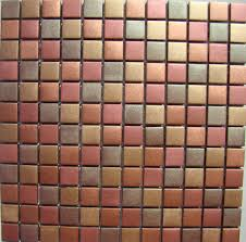 Kitchen Bath Collection by Cinnamon Mosaic Glass Tile Bronze Copper Gold Wall Tiles