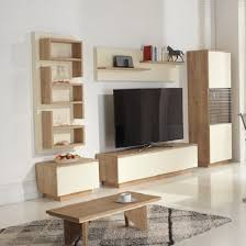Michigan Living Room Set In Oak And Cream With LED Lighting - Oak living room sets
