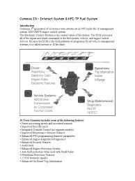 cummins isx fuel system 02 05 fuel injection pump