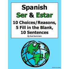 ser and estar 3 part practice worksheet