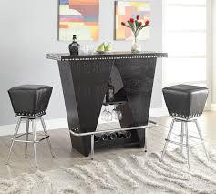 Acme Furniture Dining Room Set Amazon Com Acme Furniture 72655 2 Count Patrick Bar Table Black