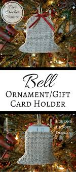 bell ornament gift card holder highland hickory designs