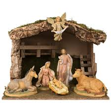 pellegrini nativity set w stable 7 pc the catholic company tis the season for giving learn about our return policy here