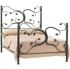 iron and wood sleigh bed frame for queen size decofurnish